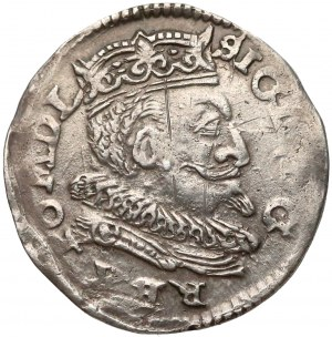 Zygmunt III Waza, Trojak Lublin 1599 - L z lewej