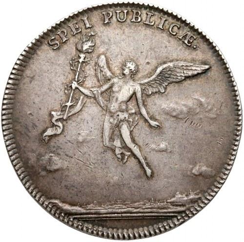 August III Sas, 2/3 talara (gulden) 1747 zaślubinowy
