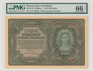 500 mkp 08.1919 - I Serja CP - PMG 66 EPQ