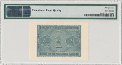1 złoty 1940 - D - PMG 67 EPQ