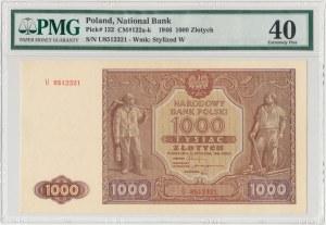 1.000 złotych 1946 - U - PMG 40