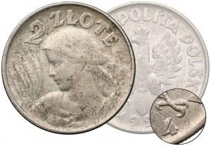Próba SREBRO 2 złote 1924 Kobieta i kłosy - Filadelfia -