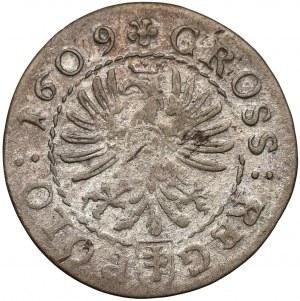 Zygmunt III Waza, Grosz Kraków 1609 - Pilawa, korona z liliami