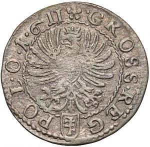 Zygmunt III Waza, Grosz Kraków 1611 - błąd POL•O