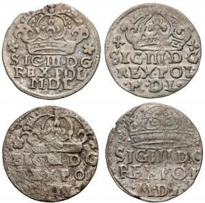 Zygmunt III Waza, Grosze Bydgoszcz 1623-1627, zestaw (4szt)