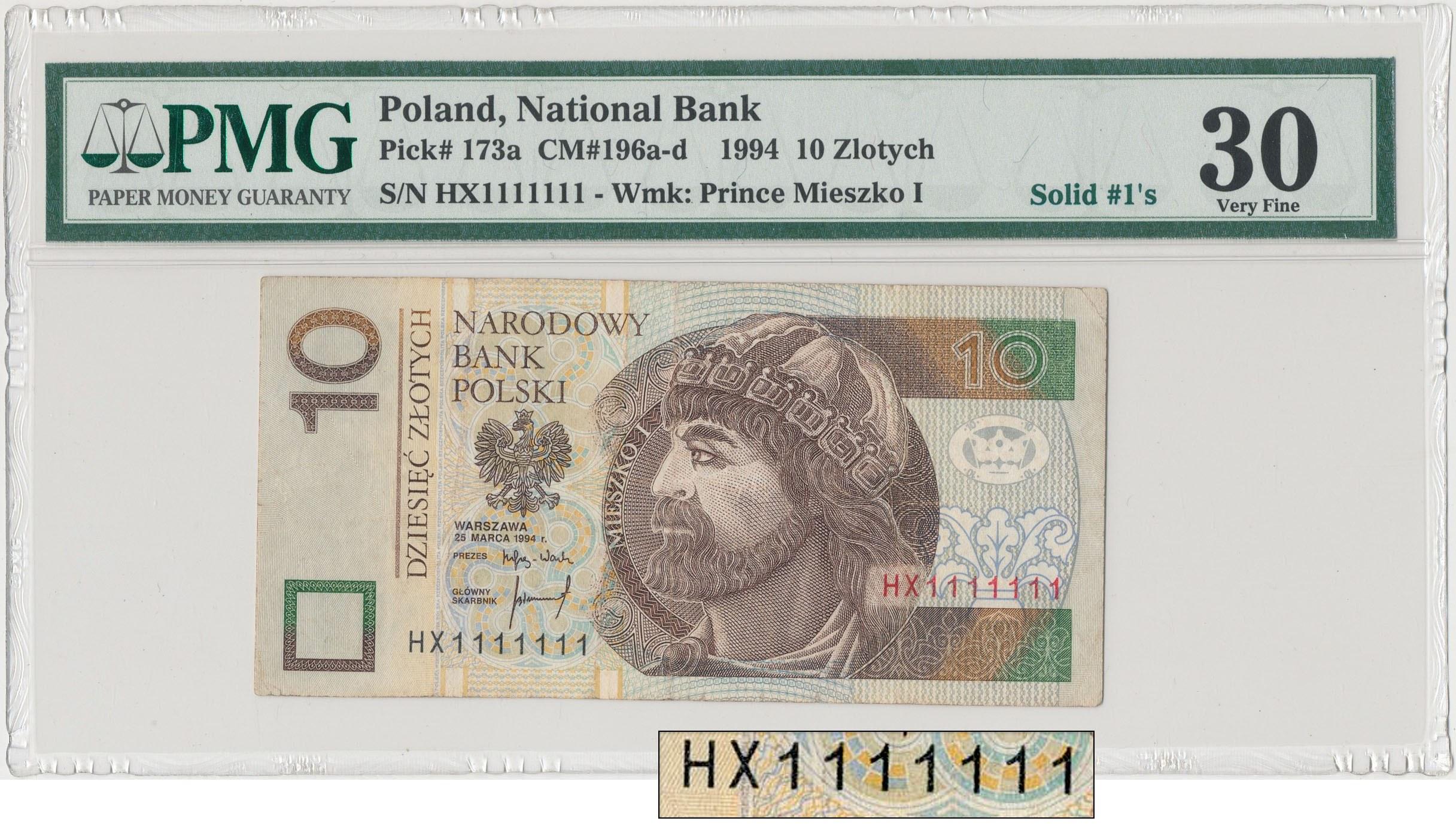 Złote numery w numizmatyce