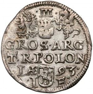 Zygmunt III Waza, Trojak Olkusz 1593 - gwiazdki