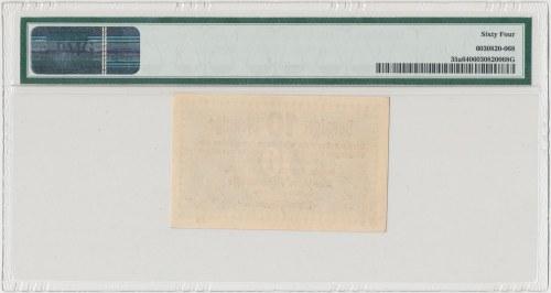Gdańsk 10 fenigów 1923 - październik - PMG 64