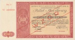 Bilet Skarbowy WZÓR Emisja III - 5.000 złotych 1947