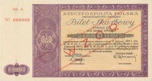 Bilet Skarbowy WZÓR Emisja III - 100.000 złotych 1947
