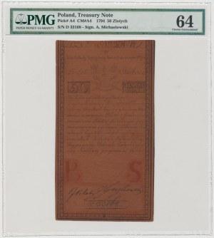 50 złotych 1794 - D - D & C BLAU[W] - PMG 64