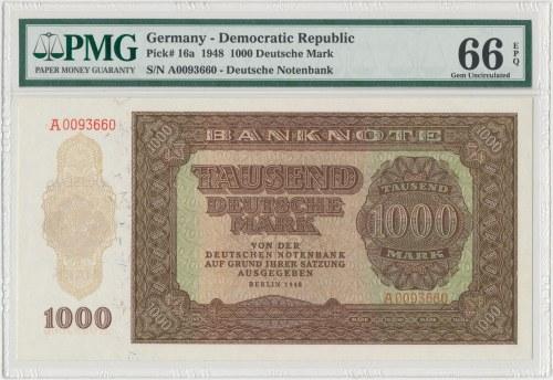 Niemcy, 1.000 Deutsche Mark 1948 - PMG 66 EPQ