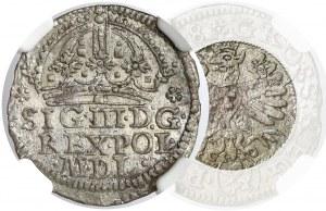 Zygmunt III Waza, Grosz Kraków 1608 - smoczy orzeł - b. rzadki