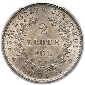 Powstanie Listopadowe, 2 złote 1831 KG - PCGS MS66