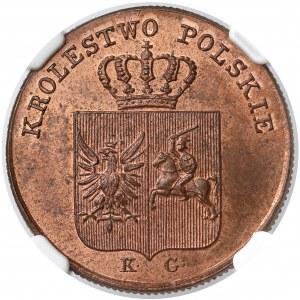 Powstanie Listopadowe, 3 grosze 1831 KG - NGC MS65 RB