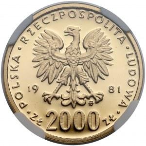 2.000 złotych 1981 Władysław I Herman - NGC PF69 UC