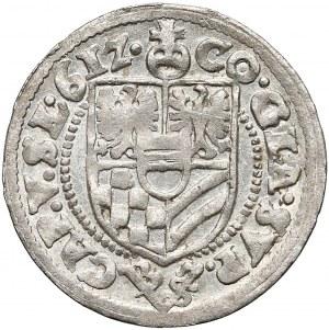 Karol II, 3 krajcary Oleśnica 1612 - Bazylius - b. ładny