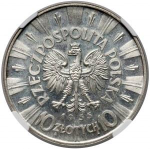 Piłsudski 10 złotych 1935 - NGC MS64
