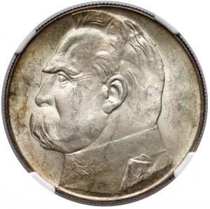 Piłsudski 10 złotych 1936 - NGC MS63