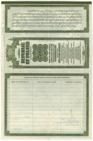 7% Pożyczka Stabilizacyjna 1927 roku, Obligacja $500
