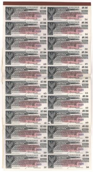 6% Pożyczka Dolarowa 1920 Obligacja $500 po konwersji na 4-1/2%