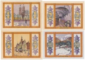 Breslau (Wrocław), 1, 2, 5 i 10 mark 1922 - zestaw (4szt)