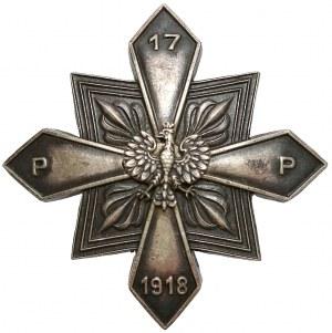 Odznaka 17 Pułku Piechoty z Rzeszowa