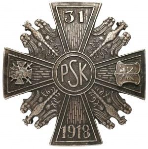 Odznaka 31 Pułku Strzelców Kaniowskich z Łodzi