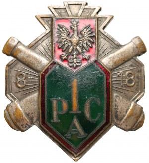 Odznaka 1 Pułku Artylerii Ciężkiej z Modlina