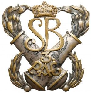 Odznaka 3 Pułku Artylerii Ciężkiej z Wilna