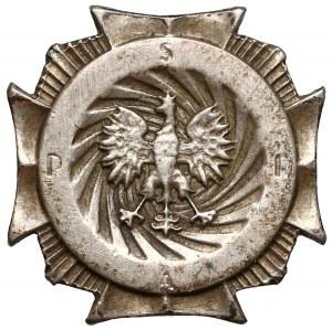 Miniatura Odznaki Szkoły Podchorążych Rezerwy Artylerii z Włodzimierza Wołyńskiego