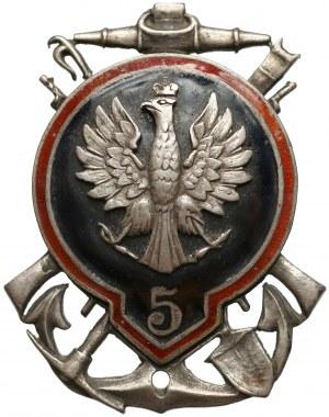 Odznaka 5 Pułku Saperów z Krakowa