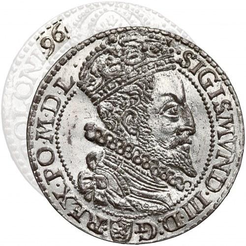 Zygmunt III Waza, Szóstak Malbork 1596 - DUŻA GŁOWA - piękny, rzadkość