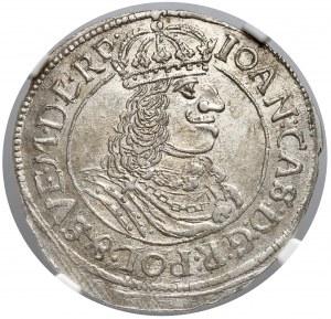 Jan II Kazimierz, Ort Toruń 1663 - NGC MS62