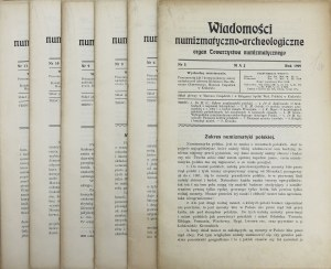 Wiadomości numizmatyczno-archeologiczne, maj-grudzień 1909 (7szt)