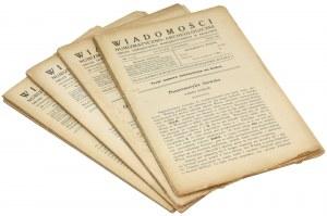 Wiadomości numizmatyczno-archeologiczne, 1921-1922 (4szt)