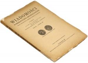 Wiadomości numizmatyczno-archeologiczne, Tom XIX - 1937