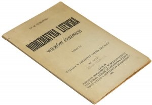 Gumowski, Numizmatyka litewska wieków średnich, 1920 r.