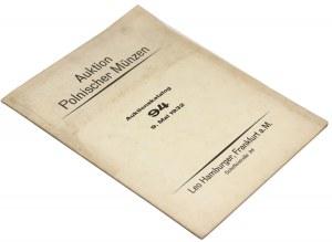 Katalog aukcyjny, kolekcja CHOMIŃSKIEGO, Frankfurt 1932