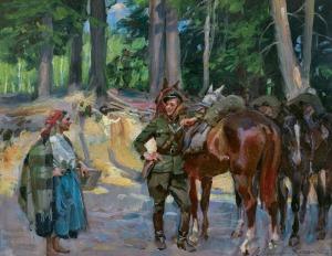 Kossak Wojciech, SPOTKANIE, lata 20. XX w.