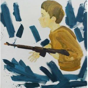 Dorian Karolak (ur. 1992, Pruszków), Chłopiec z karabinem, 2017 r.