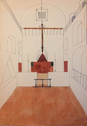 Jerzy Nowosielski (1923 – 2011), Wnętrze cerkwi, 1952 r.