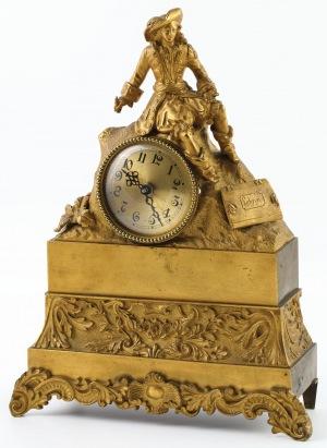 OBUDOWA ZEGARA Z MALARKĄ, Francja, 2 poł. XIX w.