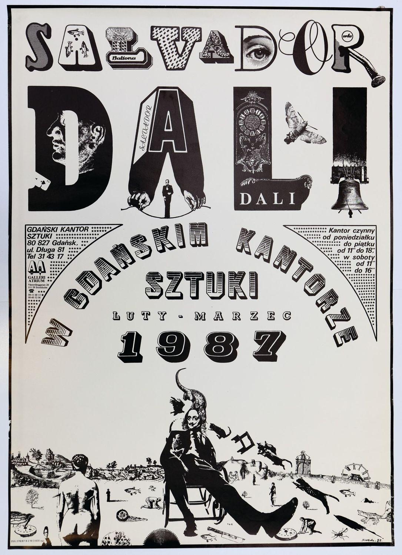 228 Plakat Salvador Dali W Gdańskim Kantorze Sztuki 1987 Projekt Jerzy Krechowicz