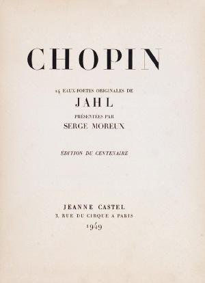 Władysław JAHL (1882-1953), Teka grafik - Życie Fryderyka Chopina, 1949