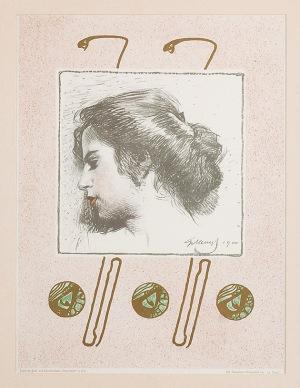 Gottlieb Theodor VON KEMPF (1871-1964), Głowa dziewczyny, 1900