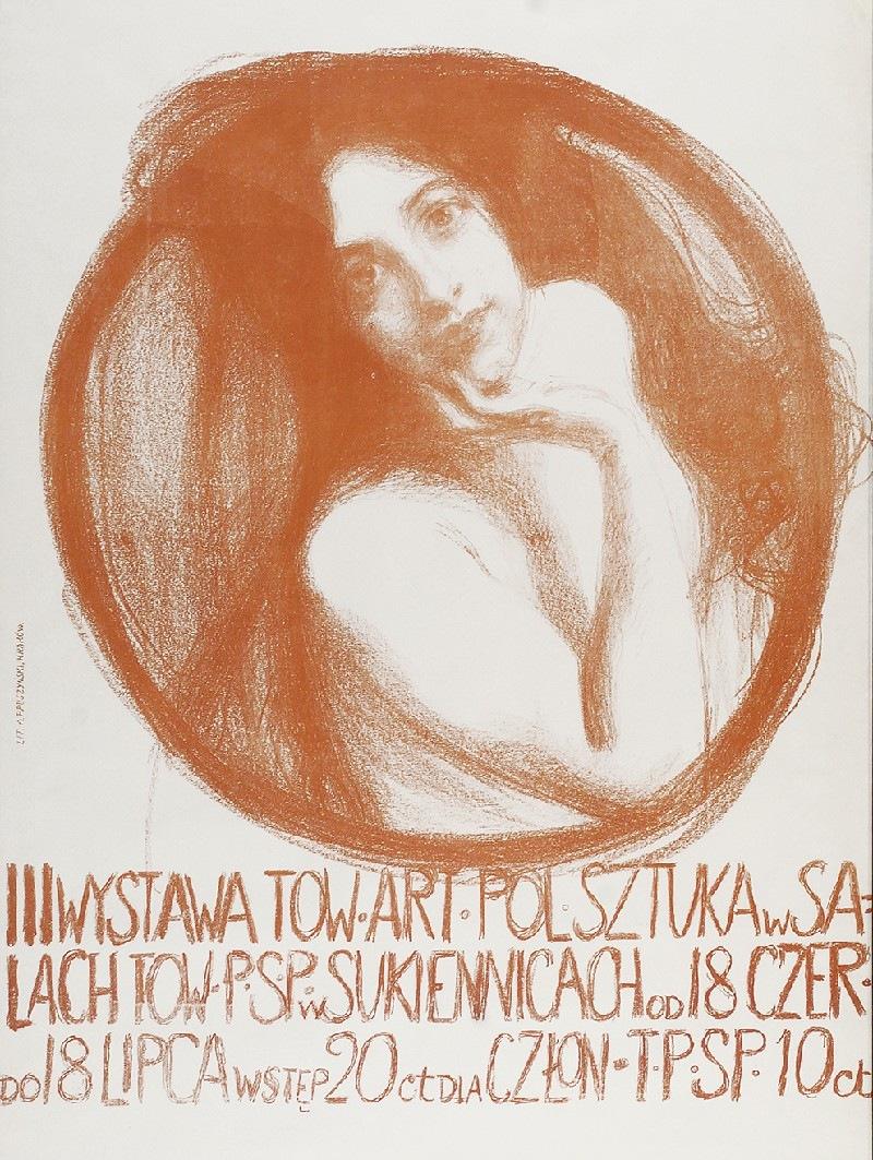 Teodor Axentowicz 1859 1938 Plakat Iii Wystawy Towarzystwa Artystów Polskich Sztuka 1899