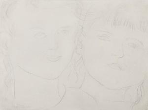 Tadeusz MAKOWSKI (1882-1932), Dwie dziewczynki, ok. 1922