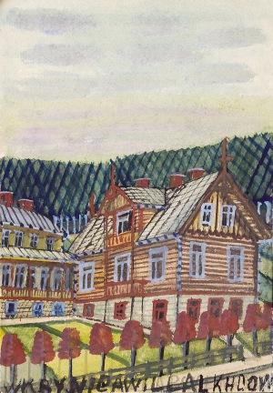 Nikifor KRYNICKI (1895-1968), Domy w Krynicy