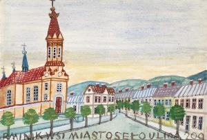 Nikifor KRYNICKI (1895-1968), Miasteczko z kościołem